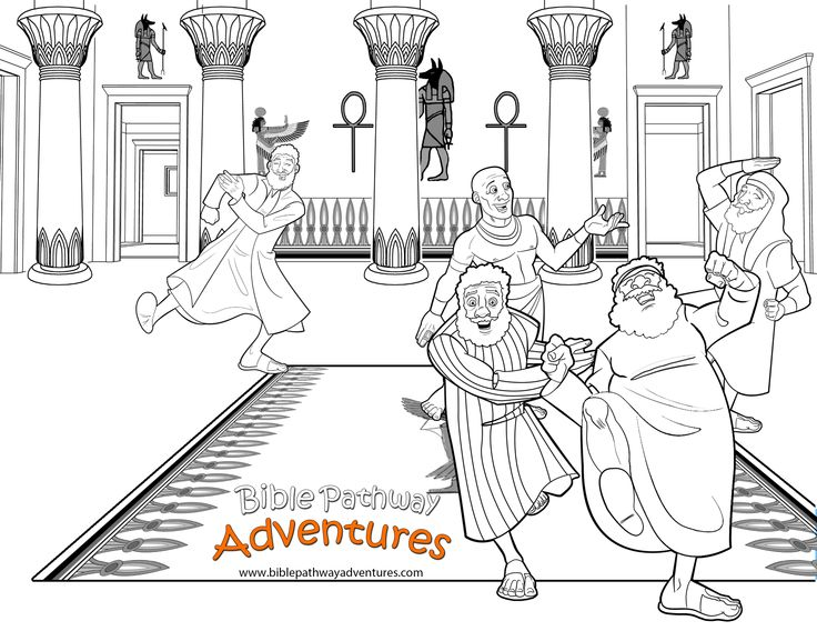 Joseph And His Brothers Reunited A Coloring Page For Kids