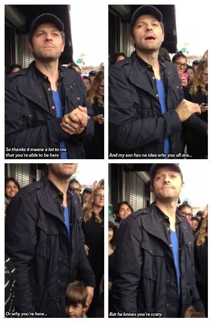 oh Misha LOL ^_^ || Misha thanks to people who came out to AMOK #Misha and West Collins