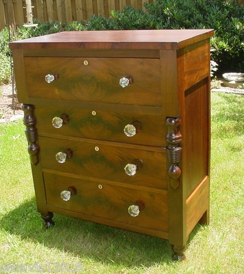 Victorian Antique Dresser Chest Storage Furniture 4 Drawers HUGE Glass Pulls. Maryland. Oh I want it!