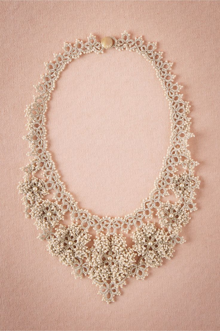 Camellia Crochet Necklace from BHLDN