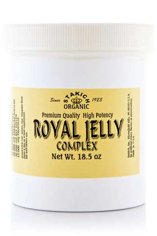 Our Royal Jelly Complex combines all five of the nature's finest foods: Raw Honey, Royal Jelly, American Ginseng, Bee Pollen, and Propolis in a perfectly balanced proportion. Only 100% pure, raw ingredients are used. No added preservatives.  Our blending calls for no heat, thus allowing all the nutrients and attributes to be fully preserved.