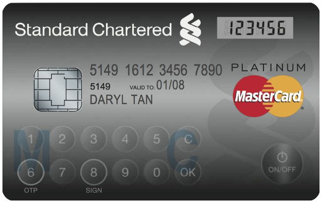 'New' Credit Card With Numeric Buttons, LCD Screen.  MasterCard is about to roll out this 'Display Card' in Singapore and claims it's gonna be the next big thing in credit card technology (how exciting!). It has buttons and an LCD screen that will only allow payment with the card after the user enters their PIN number, and a unique authorization code is generated