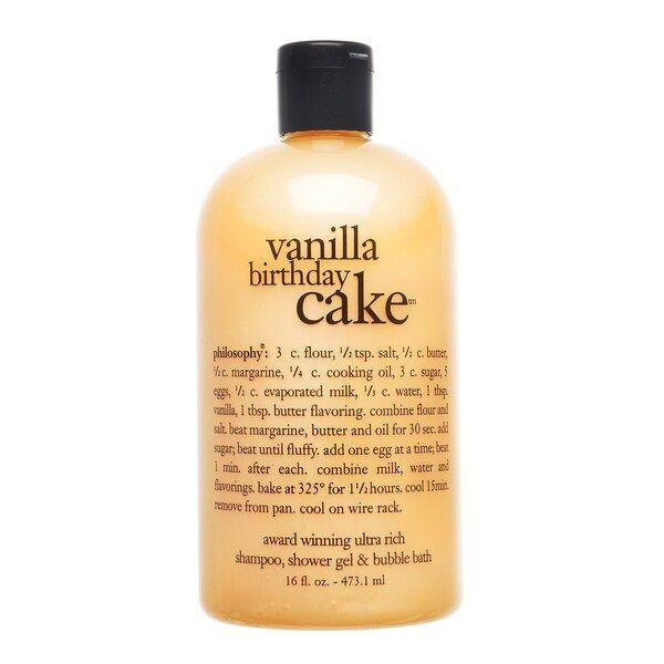 Vanilla Birthday Cake Shampoo Shower Gel Bubble Bath Philosophy Sephora In 2021 Vanilla Birthday Cake Philosophy Shower Gel Shower Gel