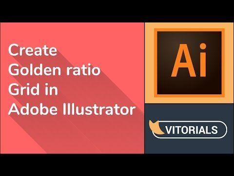 How to create Golden Ratio grid in Adobe illustrator. Rectangle grid tool tutorial   Vitorials