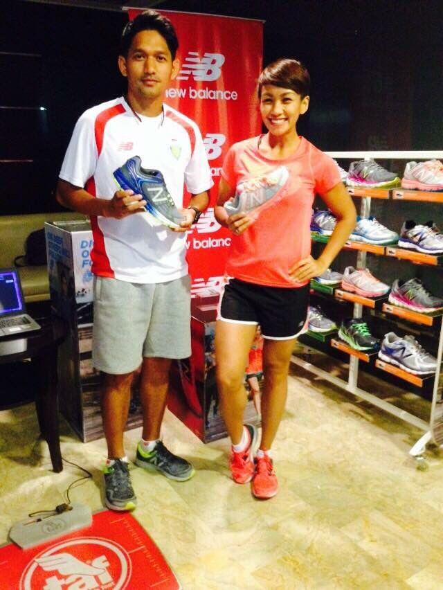 Ibnu Jamil dan Melanie Putria dengan New Balance running shoes :)