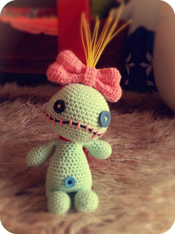 Scrump the Voodoo Doll Lilo and Stitch Amigurumi by NoukoPatterns