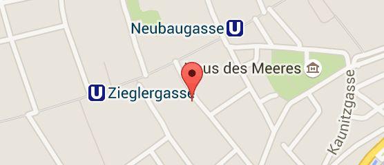 Map of Hotel Fürst Metternich