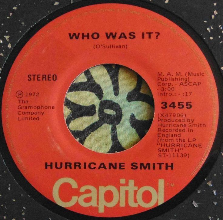 HURRICANE SMITH.....WHO WAS IT & TAKE SUKI HOME.....1972....(M-)....CAN HEAR #CLASSICROCKPOPEASYLISTENINGROCKNROLLPOPVOCALSBRITISHINVASION