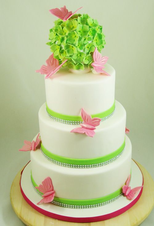 summer themed wedding cakes summer themed wedding cake with handmade butterflies and 20593