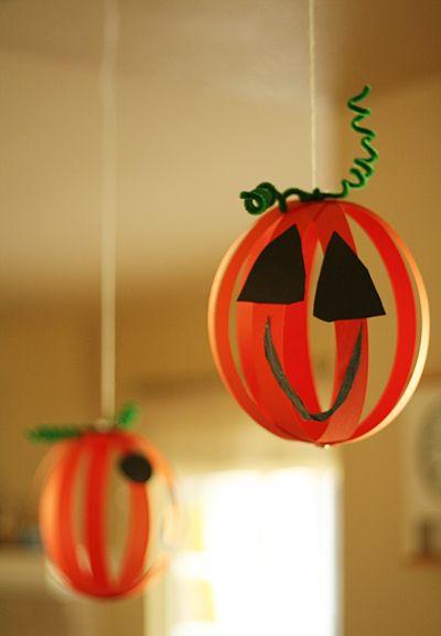 Paper Strip Jack-o-Lanterns...