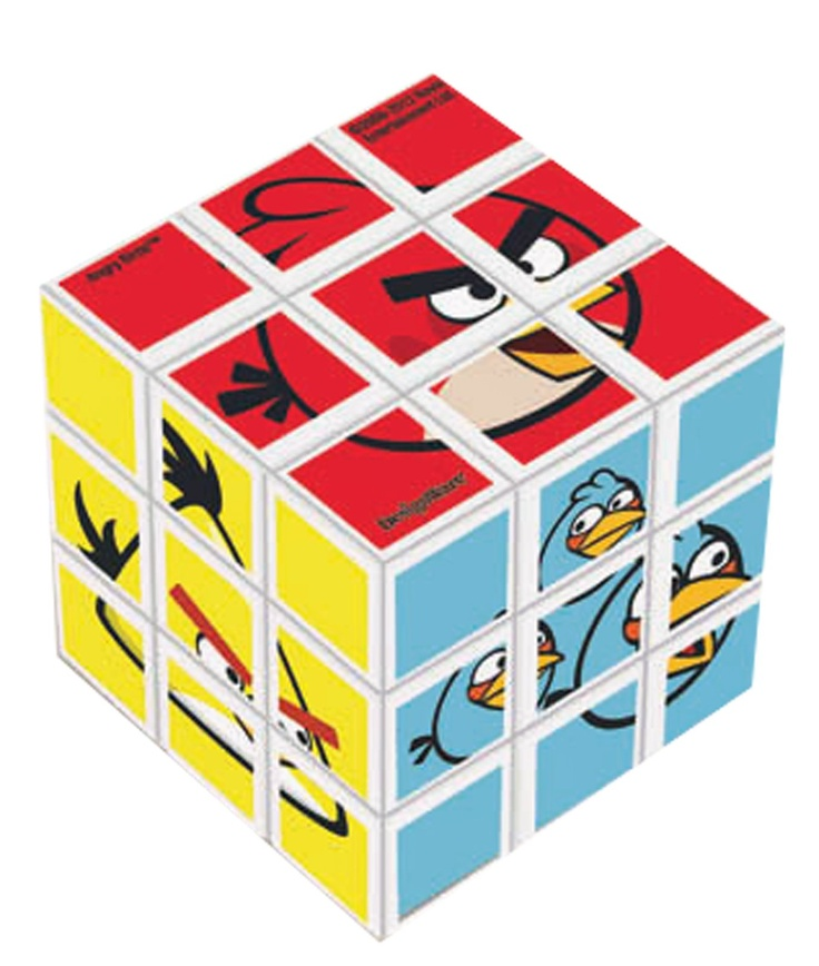 angrey bird rubik's cube...love it!