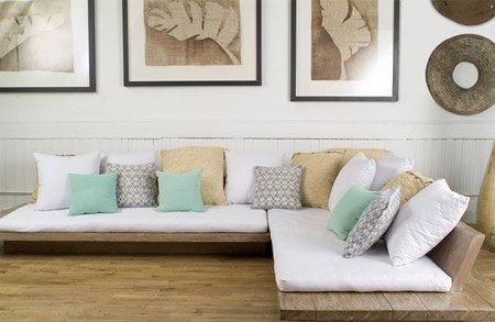 low level daybed style sofa for conservatory, or for the living area (low level suitable for living area so that it doesn't break up view too much from entrance of living area through to conservatory