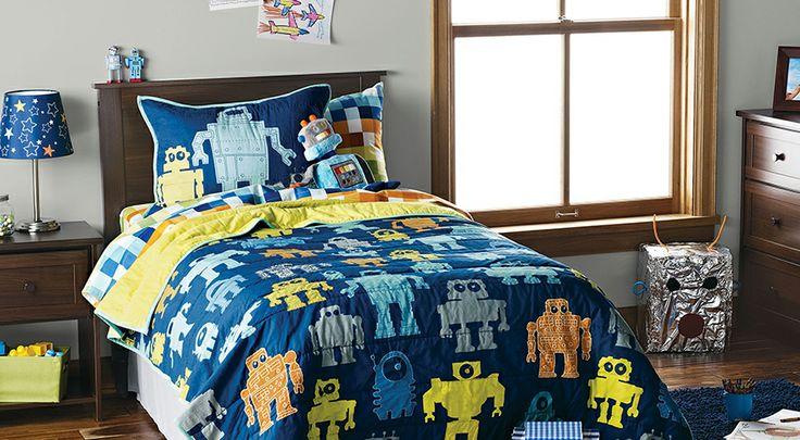 39 best benjamin moore target bedding images on pinterest for Robot bedroom