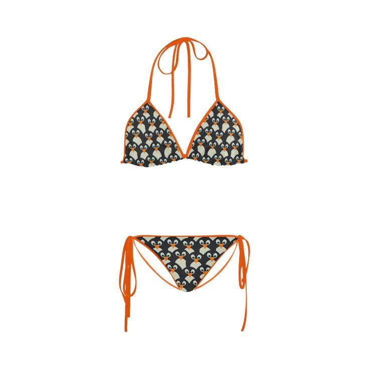 Penguin Pile-Up Custom Bikini Swimsuit