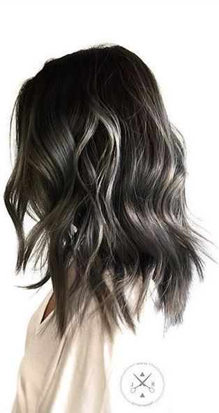 Smokey Ombre. This shade is just cool. Color by Jeffrey Robert.