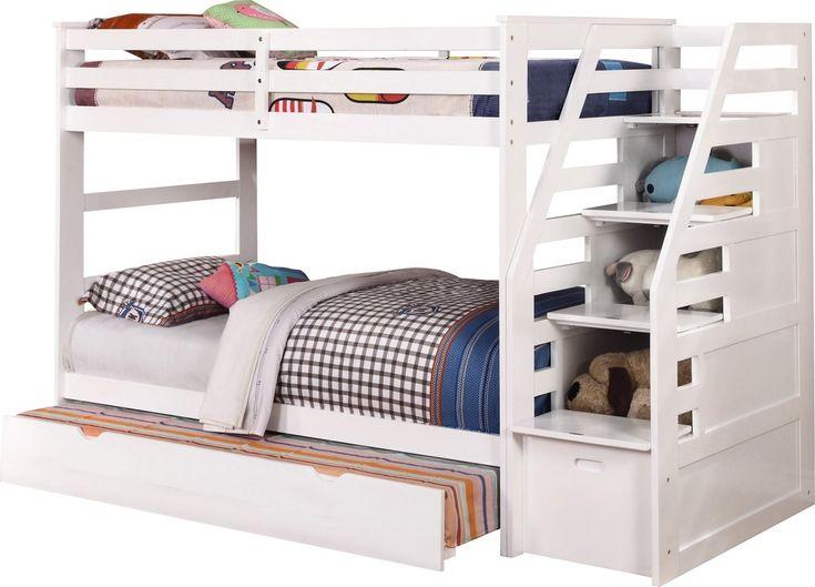 cosmo twin over twin bunk bed with trundle and storage - Einfache Hausgemachte Etagenbetten
