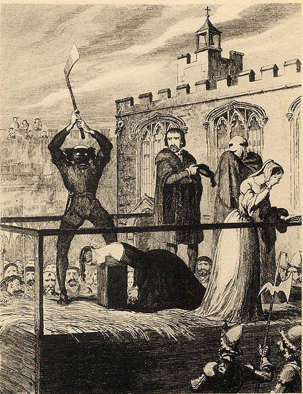 tudor history   Tudor History The execution of Katherine Howard