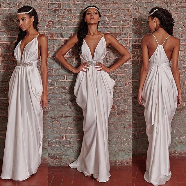 Maxi Ancient Greek Style Dress With Deep Neckline And: 1000+ Ideas About Grecian Dress On Pinterest