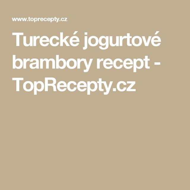 Turecké jogurtové brambory recept - TopRecepty.cz