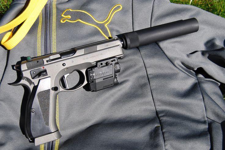 CZ 75 Sp-01 Tactical look, custom work done by Cajun Gun Works.