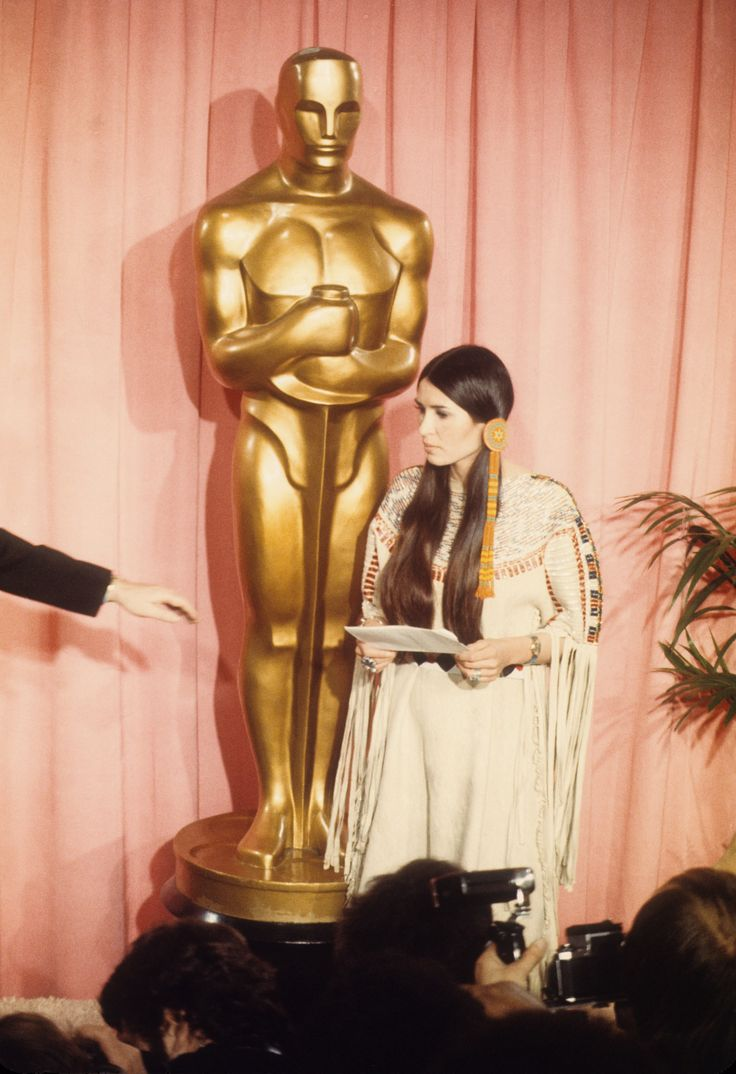 Rather than accepting his Oscar, Brando asked an Apache activist to speak for Native American rights and better representation.