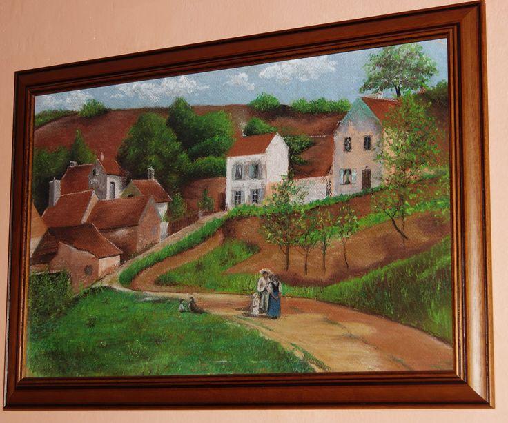 Replika od Pissarra pastel - Pissarro dry pastel replica