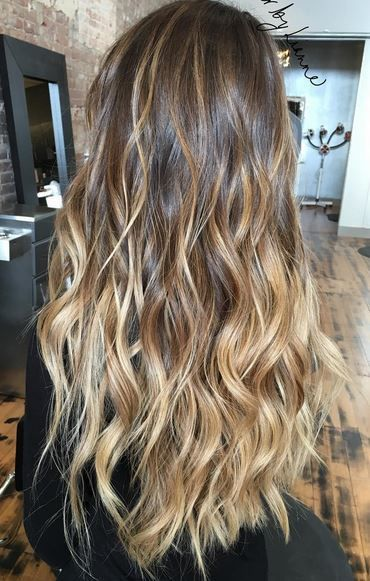 amazing balayage hair color  @kinghaircom #hairextensions #clipinhairextensions #hairstyles www.kinghair.com