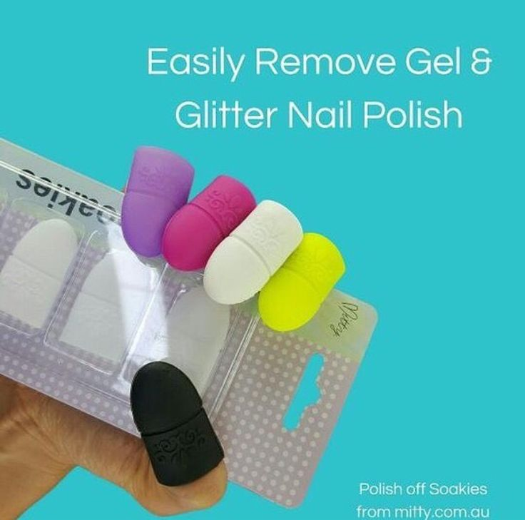 Easily remove glitter and gel nail polish and don't damage your nails with Mitty Polish Off Soakies! Available now at snailvinyls.com