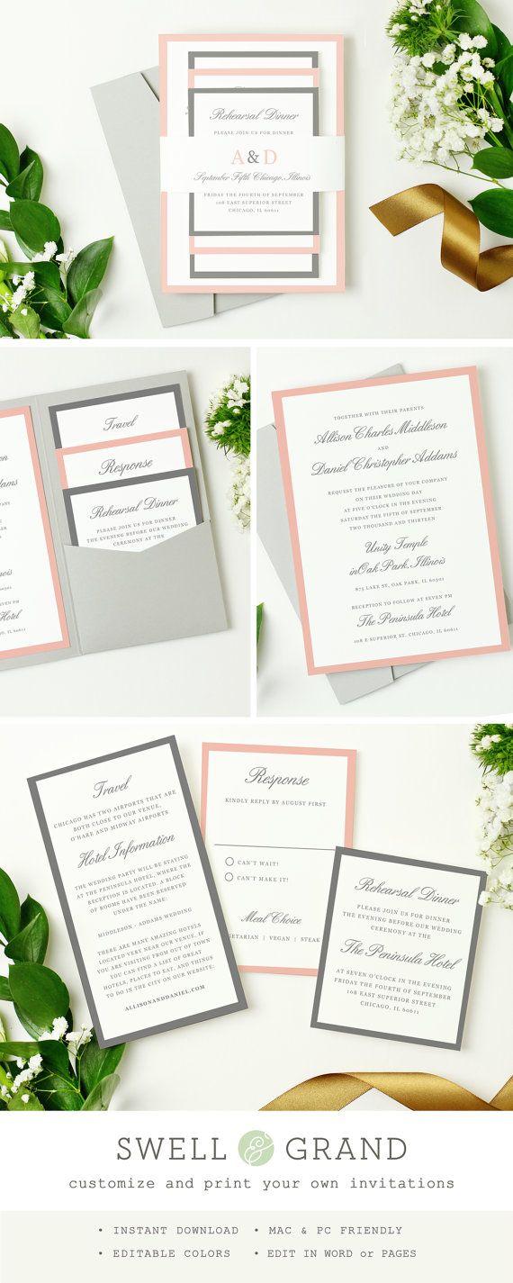 591 Best Rustic Wedding Invites Images On Pinterest Invitations