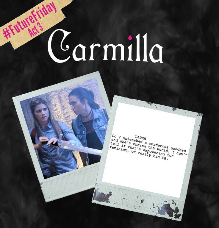 Carmilla Series @carmillaseries Holy Hufflepuff! The 3rd and final act of #CarmillaS3 drops this Thursday. Here's a lil sneak peek for yah!  #FutureFriday