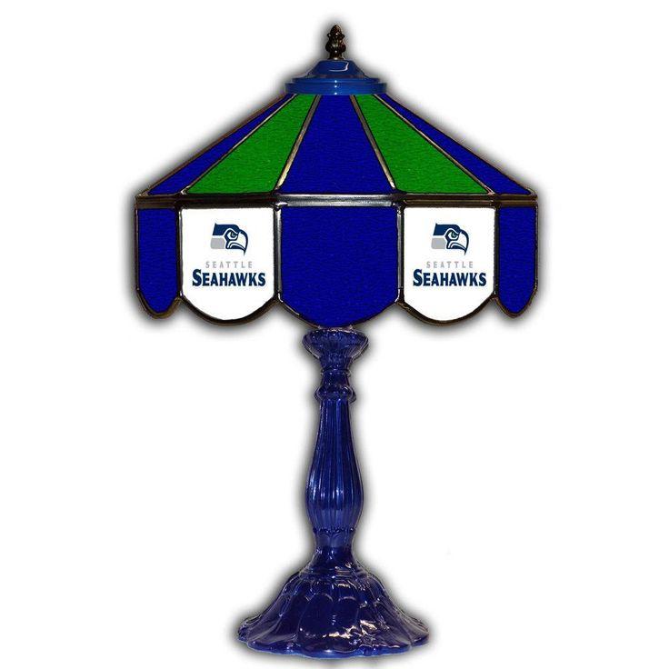 Seattle Seahawks 21т Tiffany Style Table Lamp w/ Glass Base