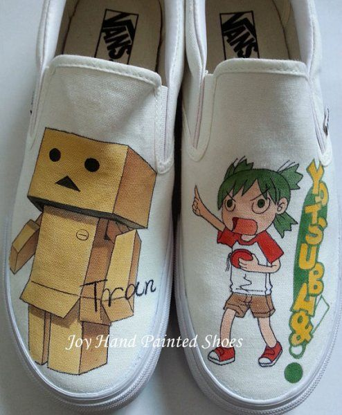 Custom Danbo from Yotsuba&! manga hand painted shoes