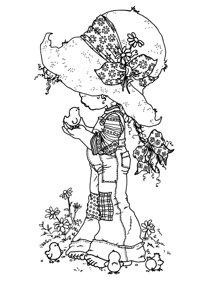 Holly Hobbie Coloring Pages