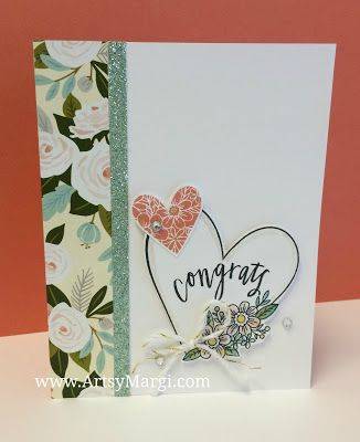 Hello Lovely CTMH Paper, January 2017 Stamp of the Month, CTMH stamps, DIY, Paper Crafting, Flowers, ArtsyMargi