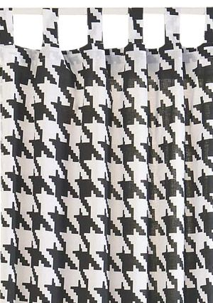 Classic Style. Houndstooth Curtains ...