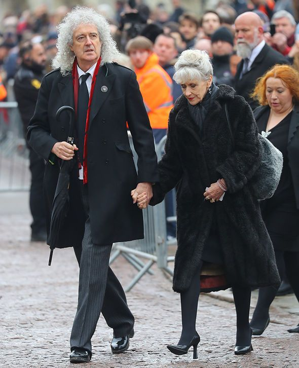 Brian May And Anita Dobson Attend The Funeral Of Stephen Hawking