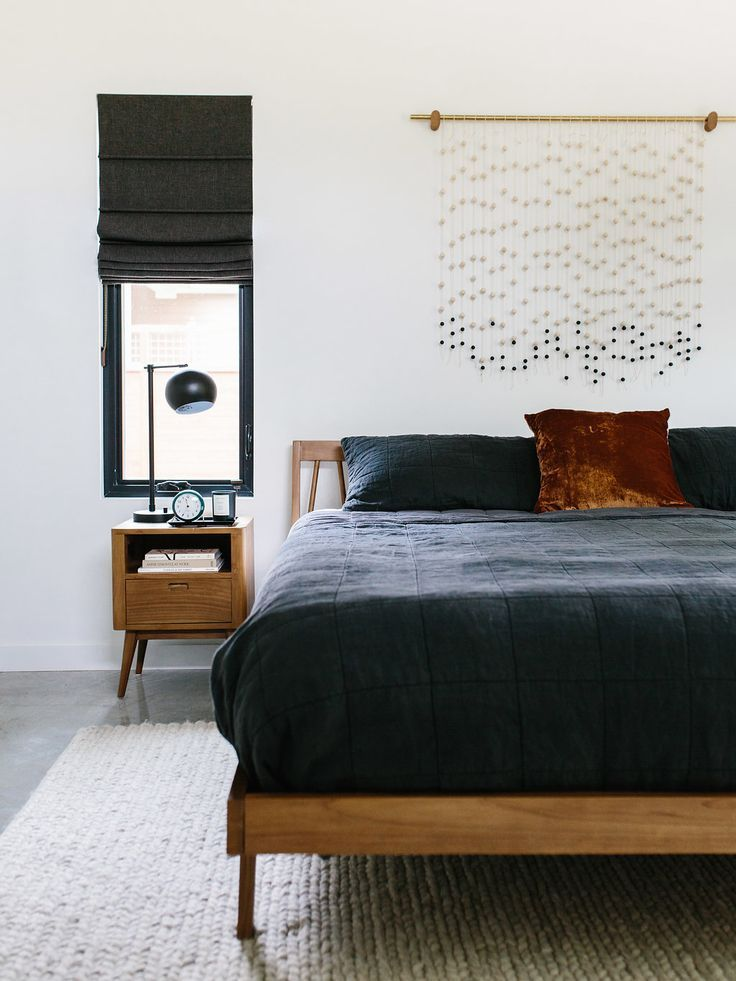 Diy The Beaded Wall Art Tutorial From Our Bedroom Other Diy Art Ideas The Effortless Chic Modern Master Bedroom Mid Century Modern Master Bedroom Mid Century Modern Bedroom Design