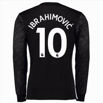 Fotbollströjor Manchester United 2017-18 Zlatan Ibrahimovic 10 Bortatröja Långärmad