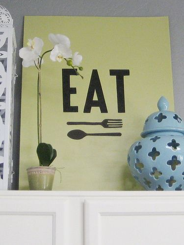 """love this tutorial! learn to make your you """"eat"""" sign with a piece of wood, paper, and a black sharpie!!! sooo easy and amazing! must do this!"""