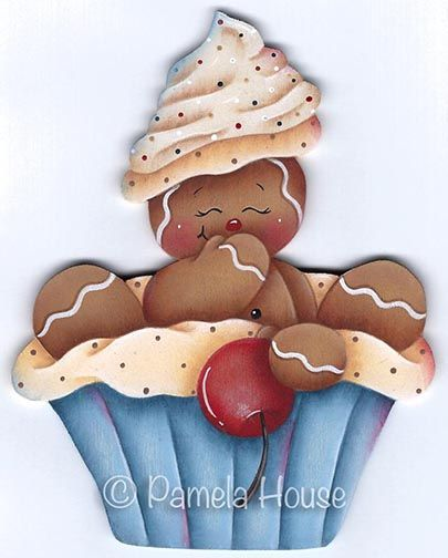 Cute as a Cupcake Ginger Pattern