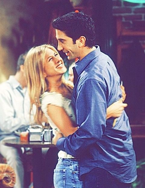 They look so happy! I loved the fact that I was able to see Ross and Rachel go through ups and downs.