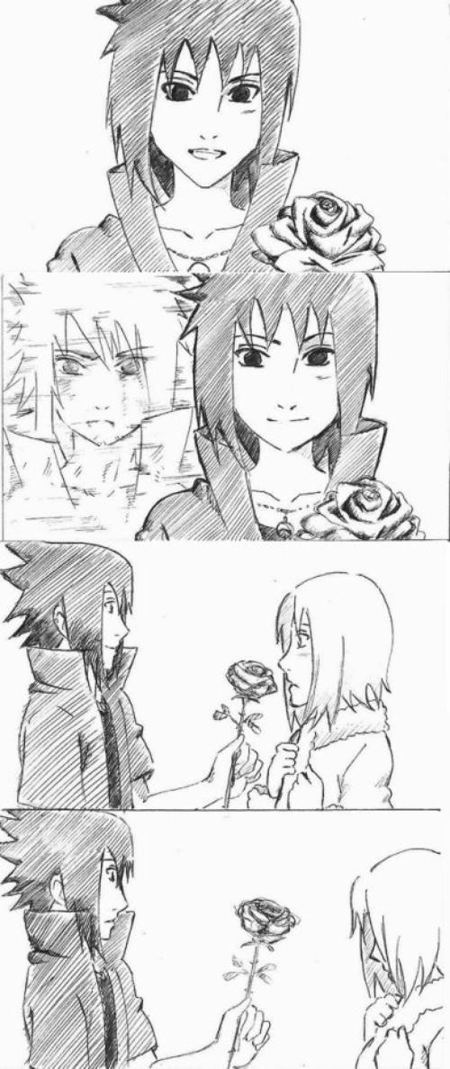 sasusaku ya I wouldn't even thank him for the rosé too unless if it was the real sasuke.