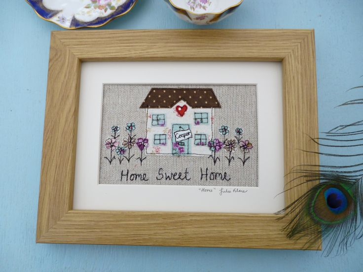 Home sweet home applique picture. A commission for a new home