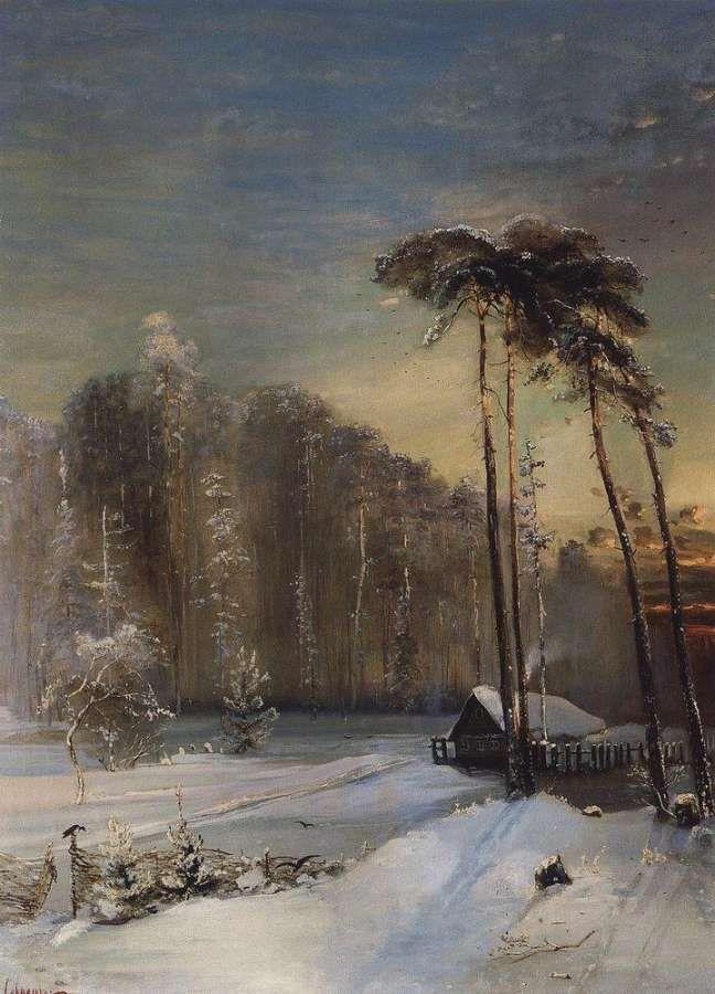Las w szronie 1890 - Лес в инее
