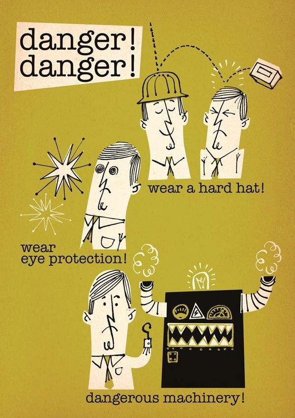 Workplace safety poster by Lord Dunsby (Steve Millington). #20thCmod