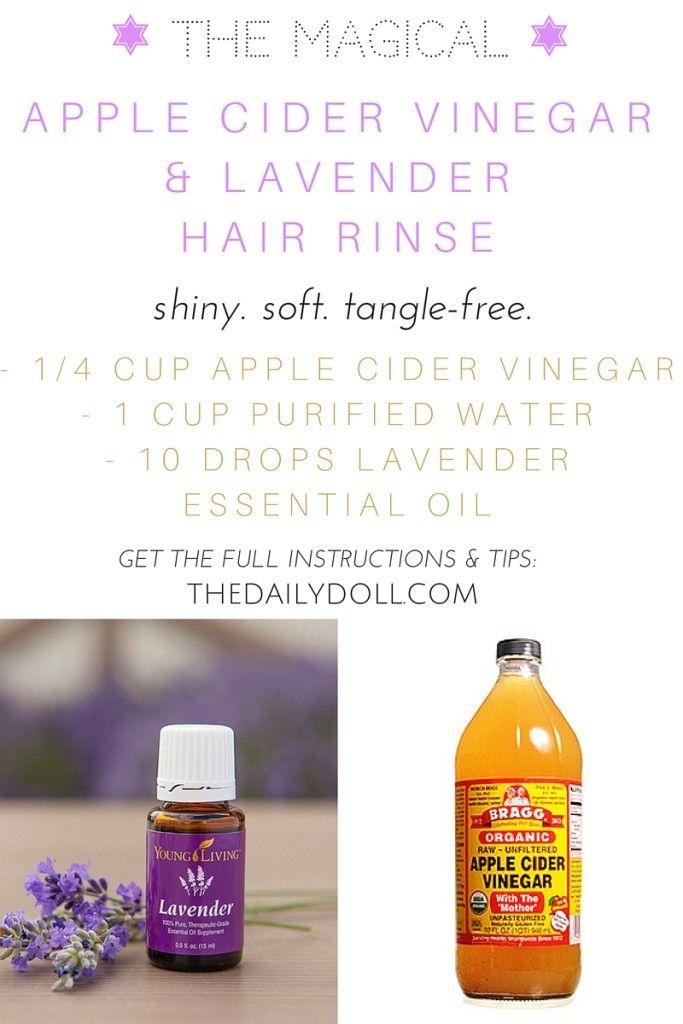 Apple Cider Vinegar Hair Rinse Recipe at TheDailyDoll.com