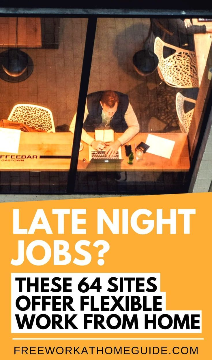 Late Night Jobs? These 64 Sites Offer Flexible Work from Home – Work from Home Jobs