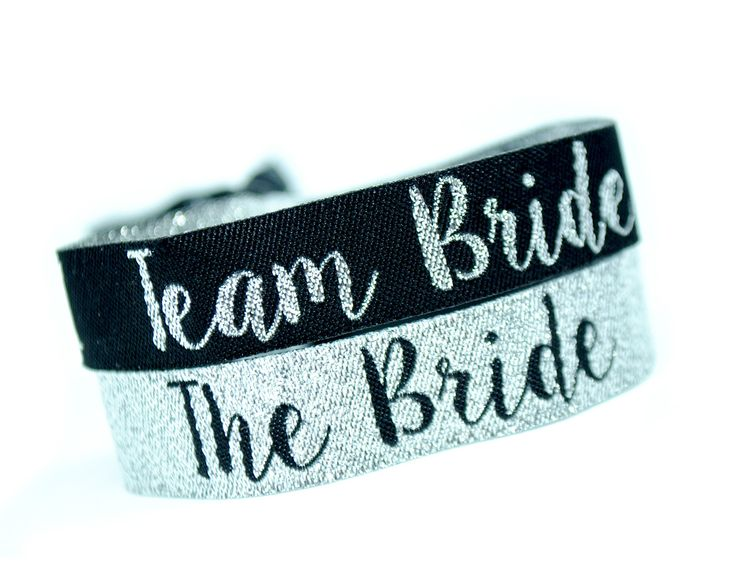 Silver & Black Team Bride & Bride Tribe Hen Party Wristbands http://www.wedfest.co/silver-black-team-bride-bride-tribe-hen-party-wristbands/e Hen Party wristbands in a