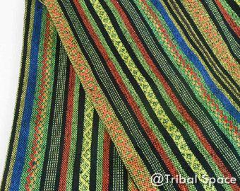 Tela Azteca Boho verde Marinaacolchado tela por MamaFoxFabric