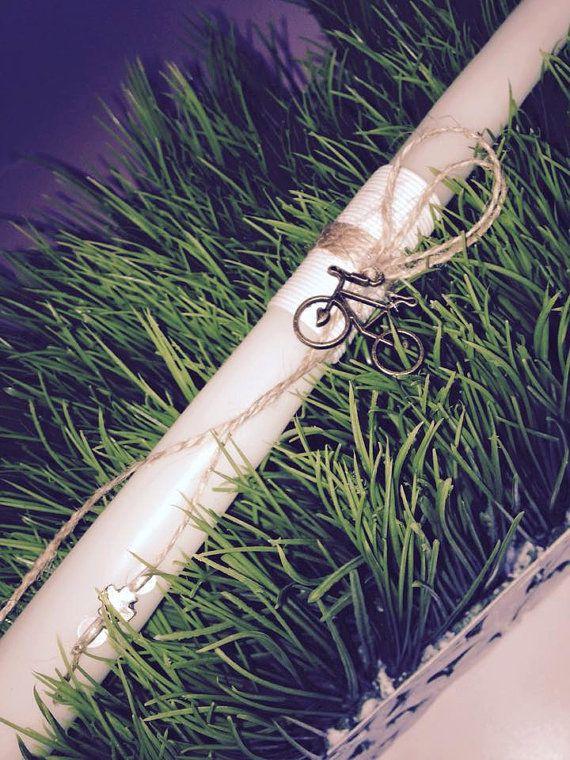 Simple Parisian Bicycle Greek Easter Candle Lambada